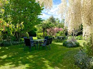 Spring in the garden at The Racecourse Inn, Longford, Tasmania