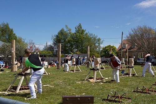 Longford Show wood chopping